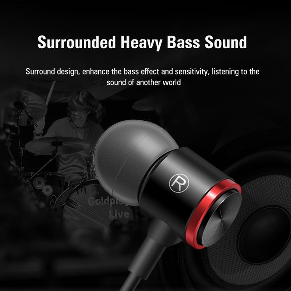 Duszake S320 Stereo Bass Headphone In-Ear 3.5MM Wired Earphones Metal HIFI Earpiece with MIC for Xiaomi Samsung Huawei Phones 3