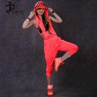 New jazz Hip Hop Dance Costume wear loose harem sports one piece Pants jumpsuit