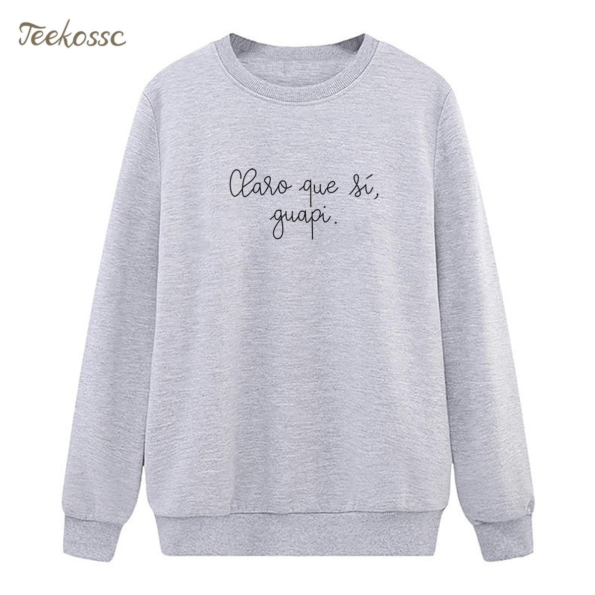 Fashion Design Sweatshirt Letter Print Hoodie 2018 New Winter Autumn Women Lasdies Pullover Fleece Warm Hipster Gray Streetwear
