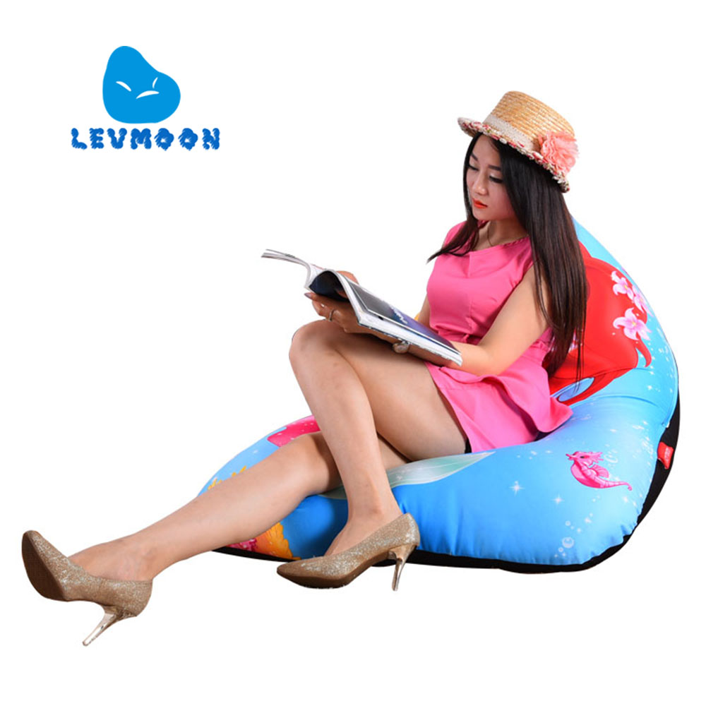 LEVMOON Beanbag Sofa Chair Mermaid Seat zac Shell Comfort Bean Bag Bed Cover Without Filler Cotton Indoor Beanbag Lounge Chair levmoon beanbag sofa chair viking seat zac shell comfort bean bag bed cover without filler cotton indoor beanbag lounge chair