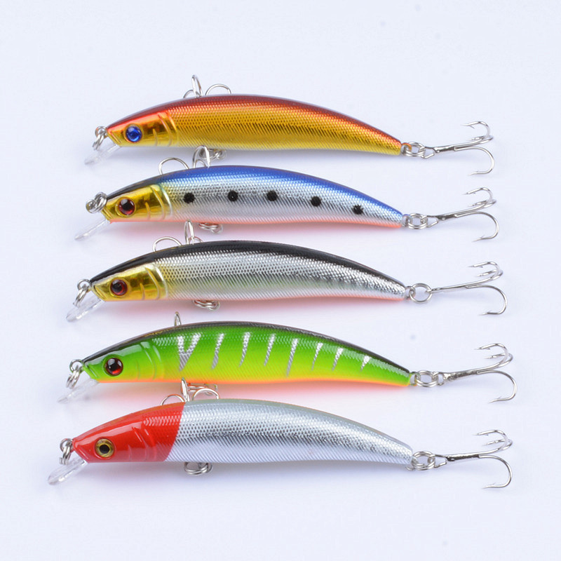 5Pcs Lot 8 5cm 7 8g Fishing Lure Hard Bait Minnow Crankbait Wobblers Peche Bass Artificial Baits Pike Carp Lures Swimbait in Fishing Lures from Sports Entertainment