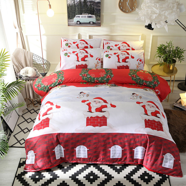 Fanaijia 3d Christmas Bedding Set Queen Size Kids Duvet Cover With