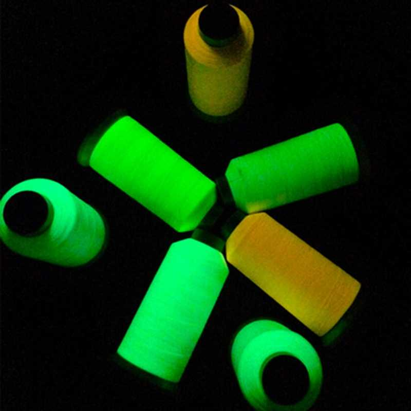 7 Colors 1000 Yards Spool Luminous Glow In The Dark Machine DIY Embroidery Sewing Thread