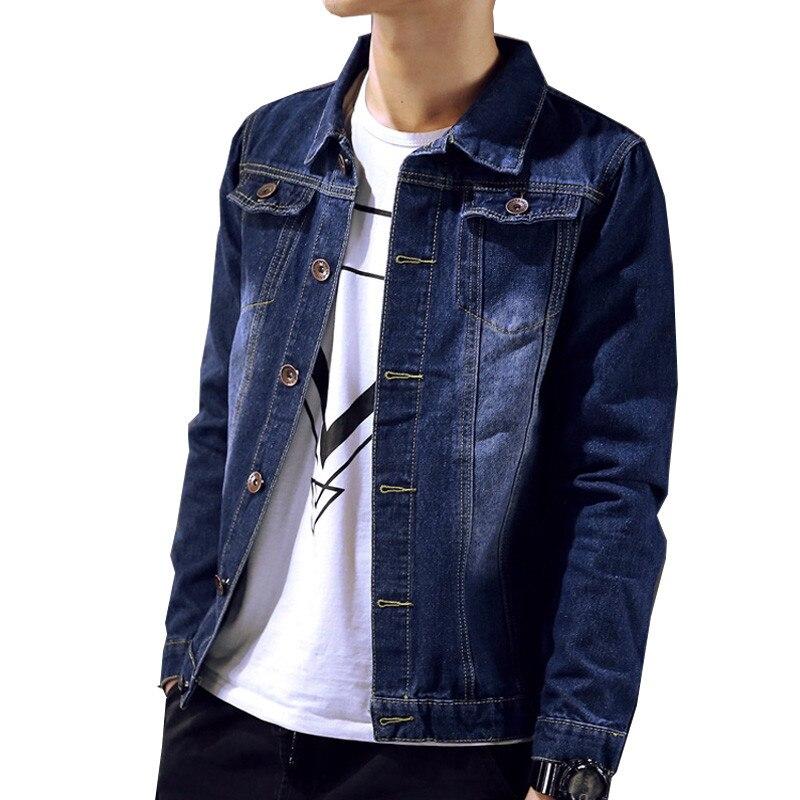 Spring and autumn teenage denim outerwear font b men s b font font b clothing b