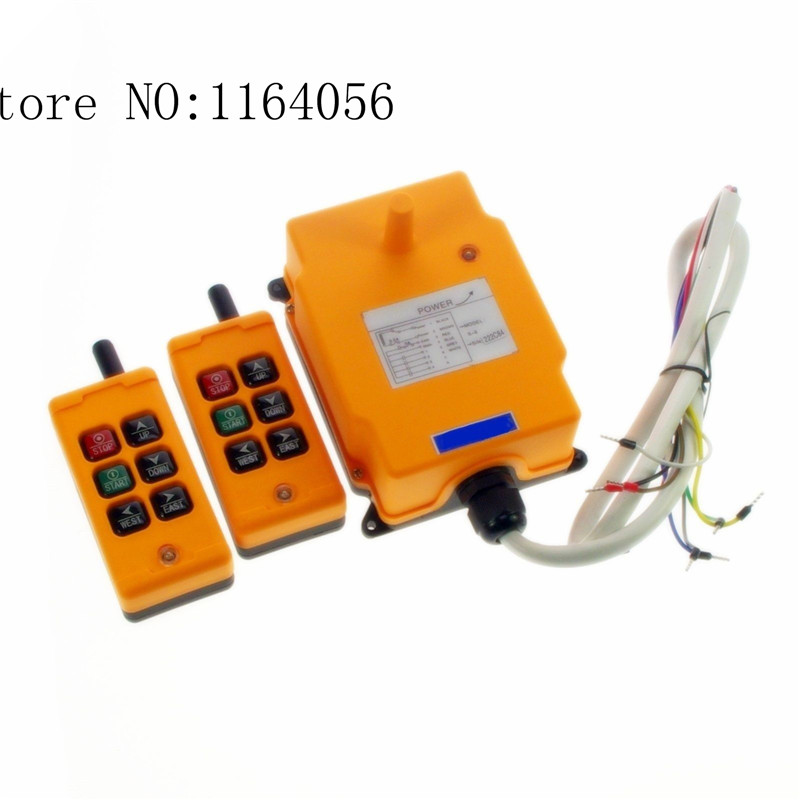 1pcs HS-6 AC/DC12V 2 Transmitters 2 Motions 1 Speed Hoist Crane Truck Remote Control System1pcs HS-6 AC/DC12V 2 Transmitters 2 Motions 1 Speed Hoist Crane Truck Remote Control System