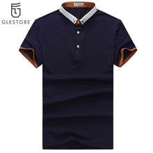 2016 New Men'S Polo Shirts Men Hit Color Male Cotton Short-Sleeved Polo Simple Fashion Sportswear Design Metal Buttons