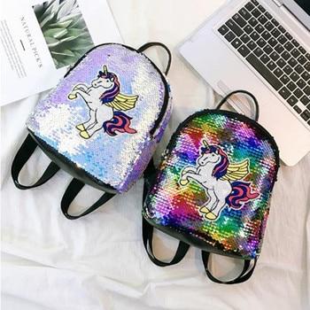 Women Unicorn Sequins Backpack