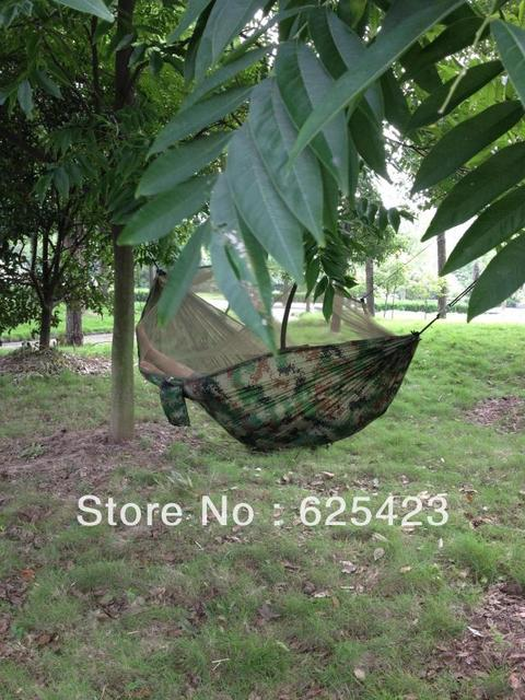 Mosquito Net Olive Camouflage Hammock Excellent Outdoor Furniture Equipment Hammock 250*120CM Camouflage Mosquito Hammock