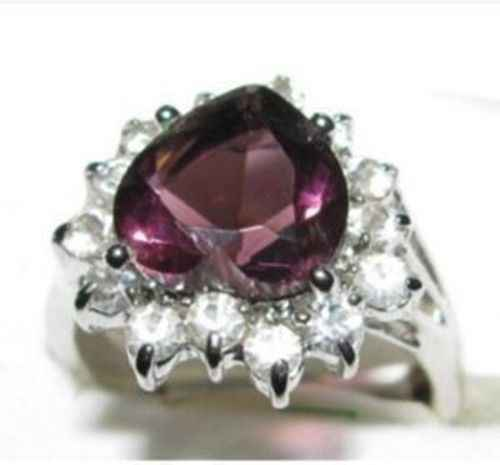 ร้อนขายรูปแบบใหม่>>>>แฟชั่นเงินแหวนผู้หญิงหินขนาด: 7,8, 9 #