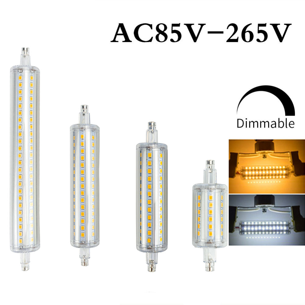<font><b>R7S</b></font> J78 J118 <font><b>Led</b></font> Bulb Corn Lamp Dimmable 78mm 118mm 135mm 189mm Replace Halogen 25W 150W 500W Spotlight Floodlight AC220V 110V image