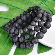 SA SILVERAGE Trend Simple Retro Fashion Energy Stone Bracelet Handmade Beaded Yoga Mens Natural