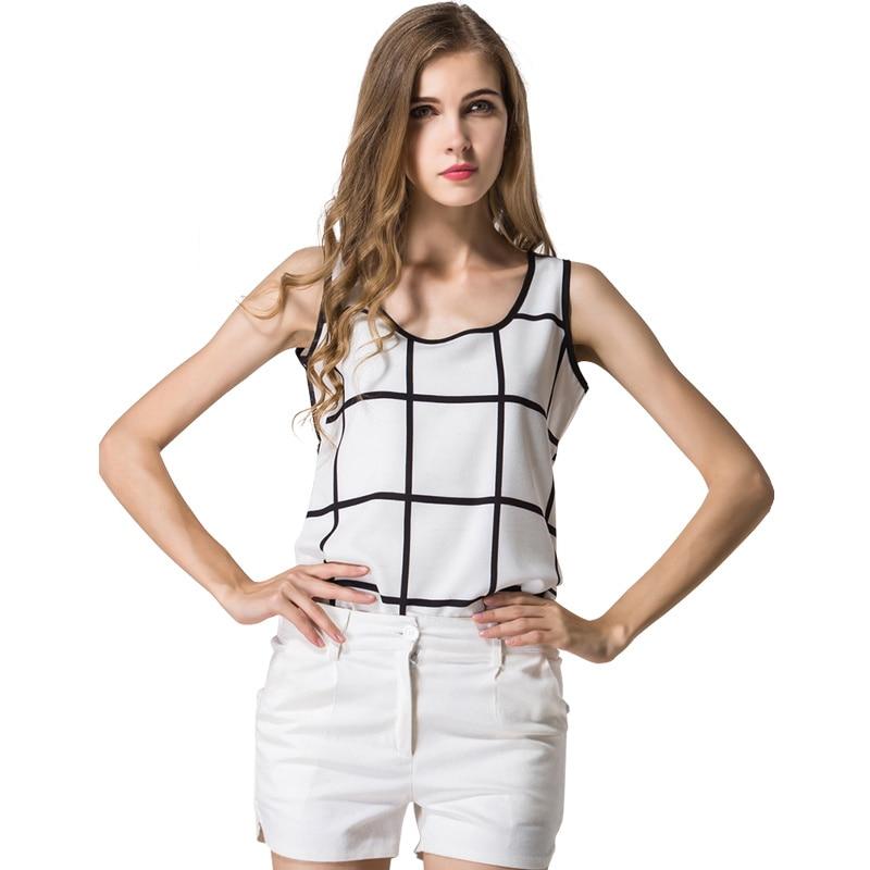 Nieuwe Hot Fashion Nieuwe Zomer Mouwloos Chiffon Shirt Baggy Blouse - Dameskleding