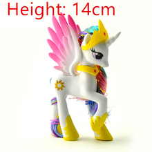 1 PCS 14cm 88g    cute  lovely  tomy horse unicorn Princess Celestia  toy dolls for Christmas