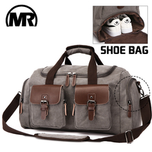 Купить с кэшбэком MARKROYAL Canvas Leather Men Travel Bags European Style Travel Bags Handbag High Capacity Shoulder Bag Travel Crossbody Baggage