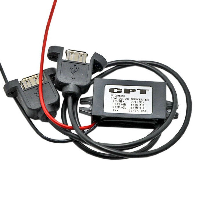 New DC-DC Converter Module 12V To 5V USB Output Power Adapter 3A 15W VP UK