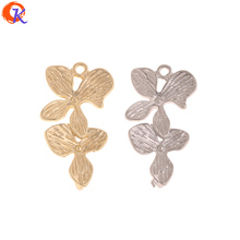 Cordial Design 100Pcs 14*27MM Jewelry Accessories/Earrings Connectors/Flower Shape/DIY/Hand Made/Jewelry Findings Component