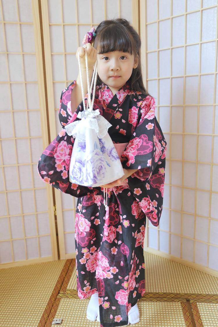 2019 novas meninas impressas japones quimono robe crianca guerreiro trajes tradicionais espadachins yukata conjunto de desempenho