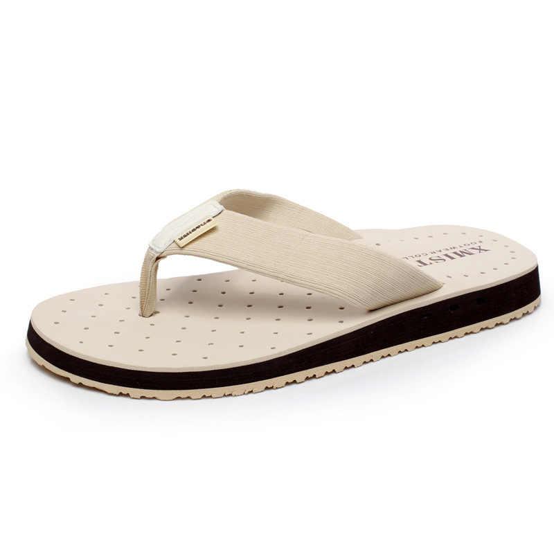 61bd383c ... 2018 nueva llegada de los hombres de verano Flip Flops playa de alta  calidad sandalias no ...