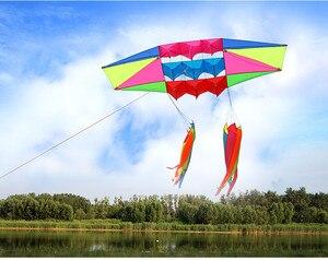 Новые воздушные змеи для взрослых с одной леской, большой 3D Радарный воздушный змей, летящий с кайт-хвост, уличные игрушки, спорт, развлечени...