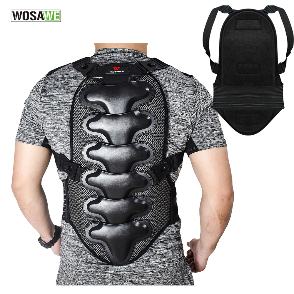 WOSAWE Cycling Safety Vest Double Protection Pad MTB Mountain Bike Motorcycle Body Protective Back Support Cycling Gilet