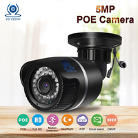 ZSVEDIO IP Cameras H 265 POE 5MP Camera IP Alarm System CCTV Camera Cameras IP POE