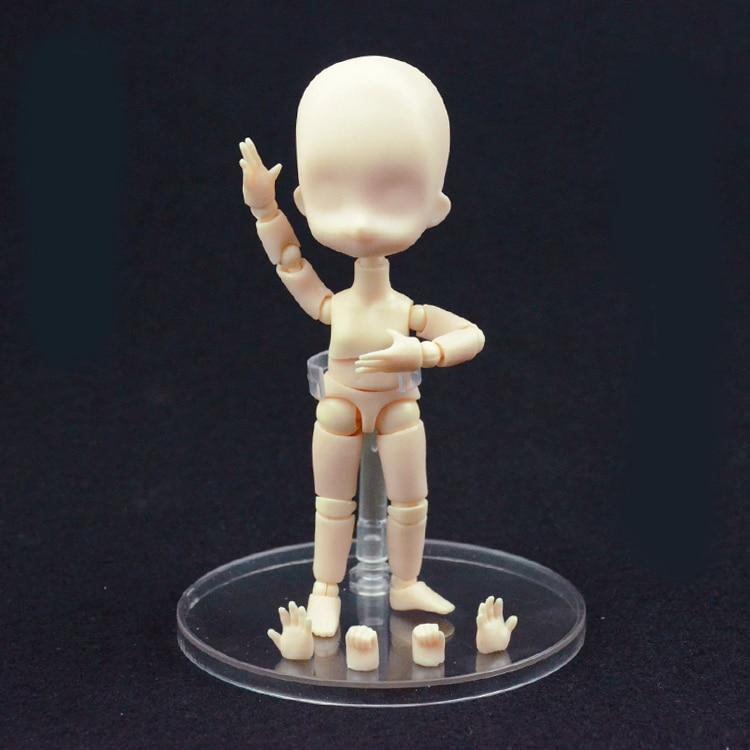 Gutherzig Gemeinsame Bewegliche Q Version Von Kinder Körper Puppe Anime Kunst Modell Malerei Puppe Dekoration Up-To-Date-Styling Office & School Supplies