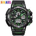 Big Dial G Style Digital Watch Military Army Men Watch Clock Dual Display Wristwatch S Shock Water Resistant Date Calendar LED