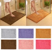 New Indoor Door Mat Chenille Foot Pad Bathroom Anti Slip Rugs Toilet Non slip Carpets for Kitchen Hallway