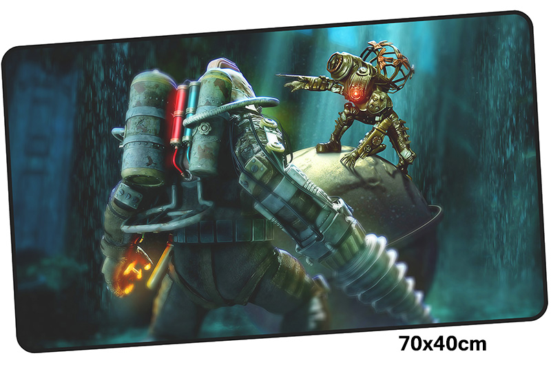 bioshock mousepad gamer 700x400X3MM gaming mouse pad large present notebook pc accessories laptop padmouse ergonomic mat