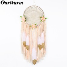 OurWarm Boho DIY Kit Dream Catcher Baby Shower Nursery Decor Greenery Make Your Own Dreamcatcher