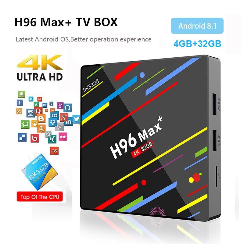 H96 MAX Plus Smart TV Box Android 8 1 TV Box 4GB Ram 32GB Rom RK3328