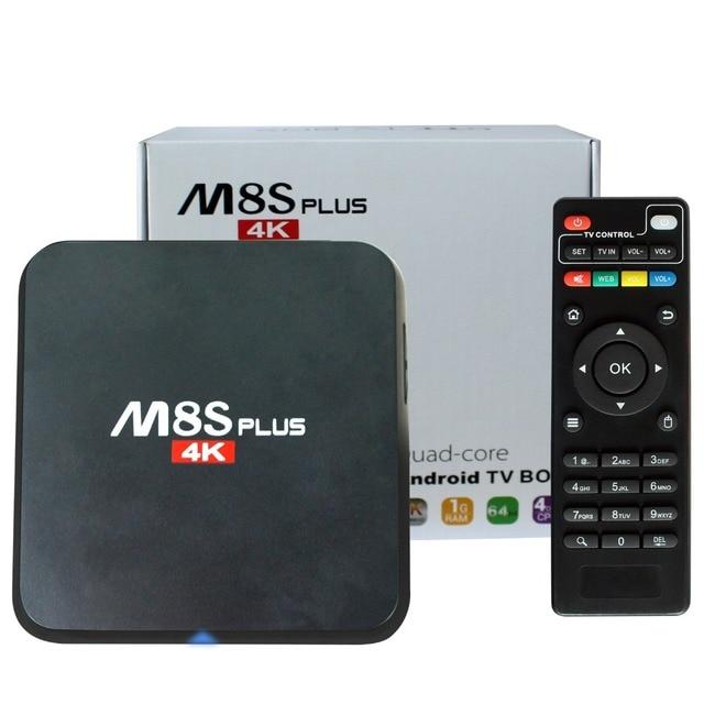 M8S Plus/S905 m8s + 2 GB 8 GB Android TV Box android 5.1 quad core 1000 M KD 16.0 media player m8 z4 rk8 matar Caixa Smart Tv
