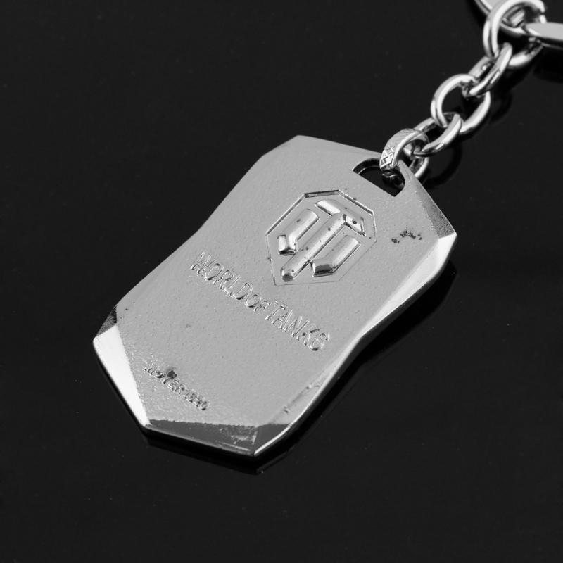 3D Game 1974 World Of Tanks POPEYE SIMTN KeychainsNew Arrival Silver Plated World Of Tanks Logo Symbol Key Chains