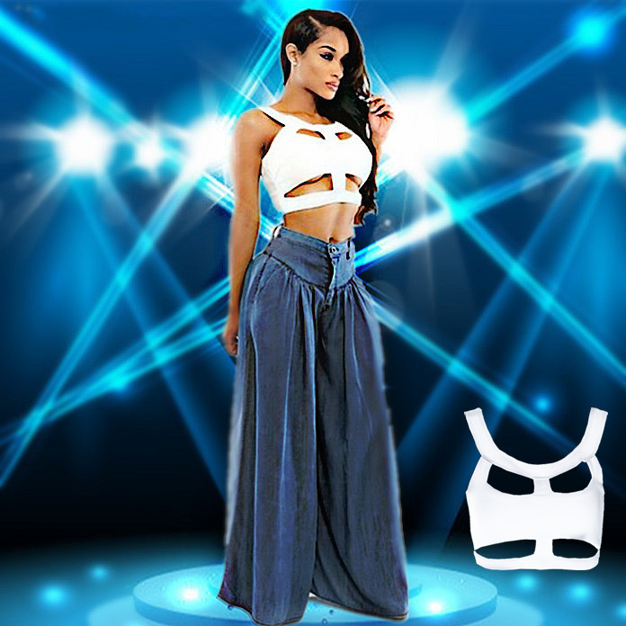 Free shopping Top Quality Fashion New style bustier top Spaghetti strap O-nECK sleeveless elastic tops Summer sexy camis PY-14