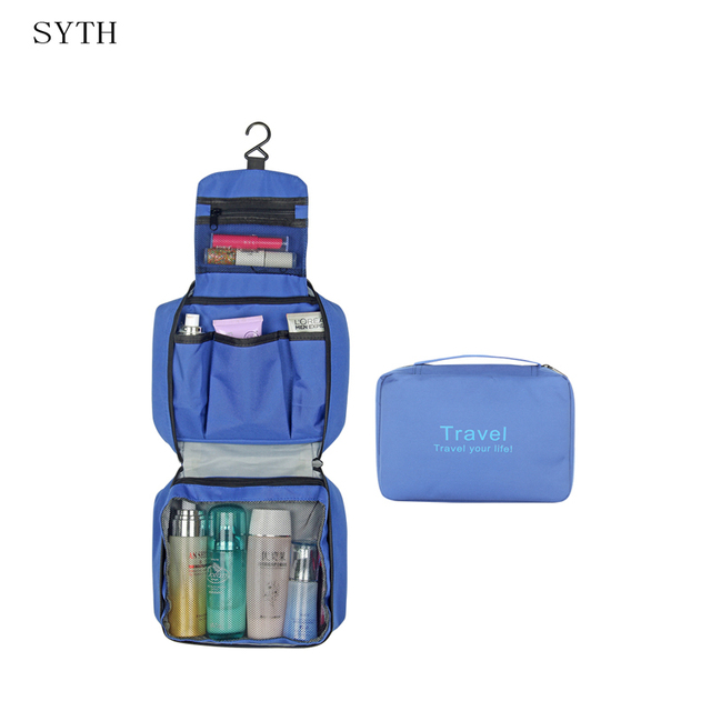 9f3abbdf3e1 ... syth multi functional waterproof compact hanging cosmetic travel bag  toiletry neceser wash bag makeup necessaire ...