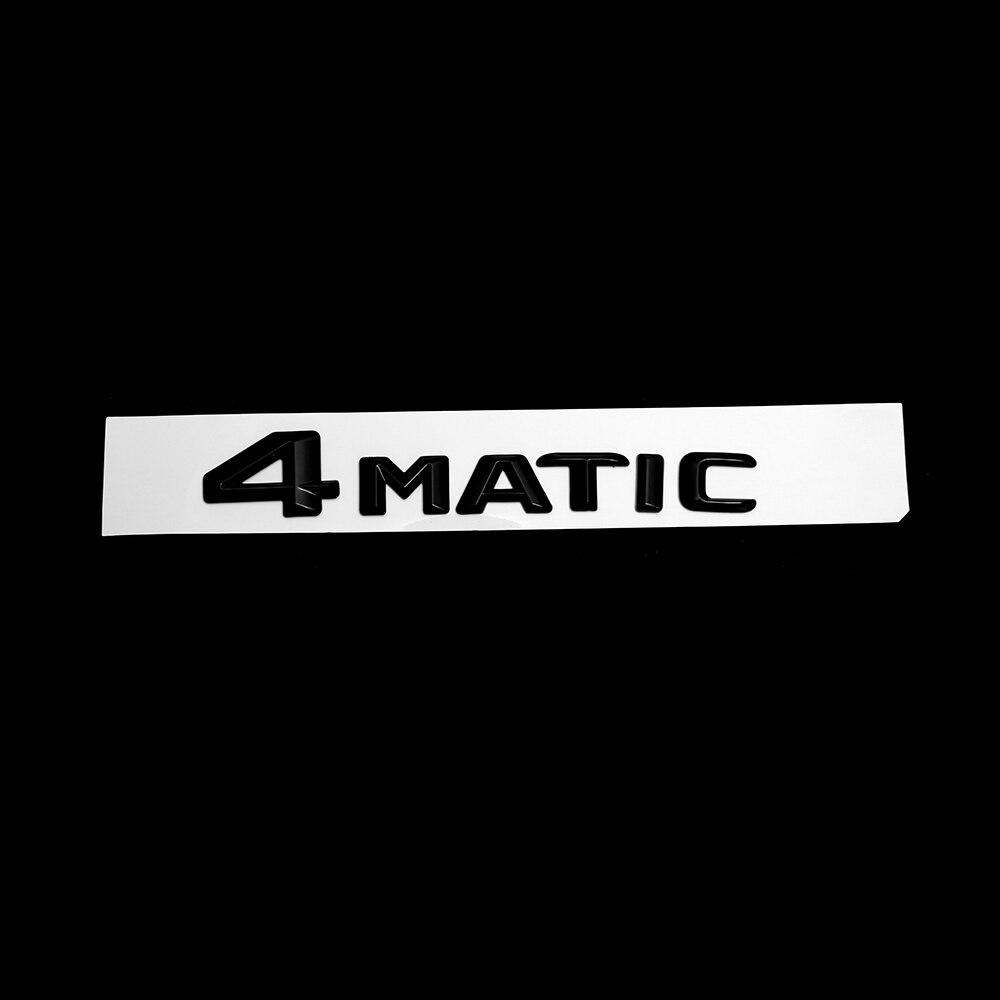 Pour Mercedes Benz numéro de voiture lettres 4 MATIC tronc emblème Chrom argent Badges