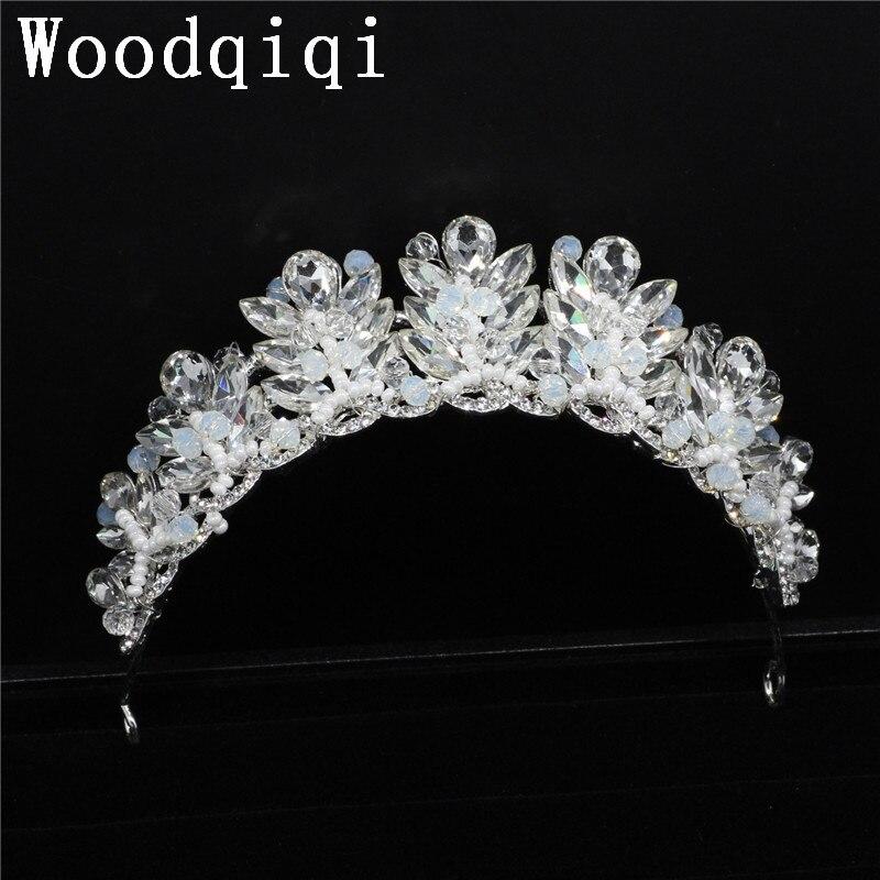 Woodqiqi horquillas de pelo para mujer wedding-hair-accessories-bridal flower crown bijoux de tete adorno pelo coroa de princesa