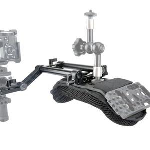 Image 4 - NICEYRIG lustrzanka cyfrowa kamera dslr ramię Rig Steadycam kamera wideo nakładka na pas bezpieczeństwa z szyną Riser 15mm pręty akcesoria
