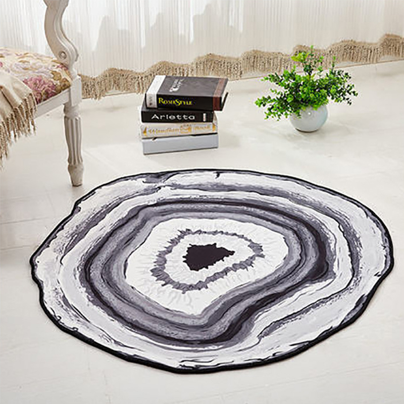Annual Round Mat Bedroom Rug Round Mat Chair Round Carpet Bathroom Rug Home Decoration Tapetes Para Casa Sala Arear Rug for Kid