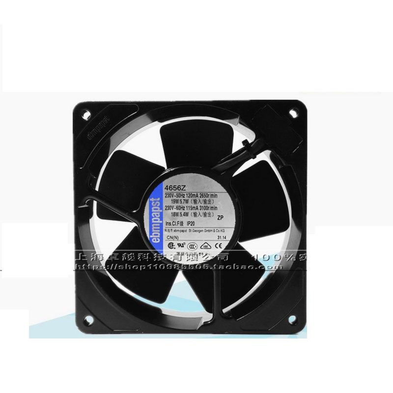 New original 4656Z 12038 230V 19W all-metal high temperature fan delta 12038 12v cooling fan afb1212ehe afb1212he afb1212hhe afb1212le afb1212she afb1212vhe afb1212me