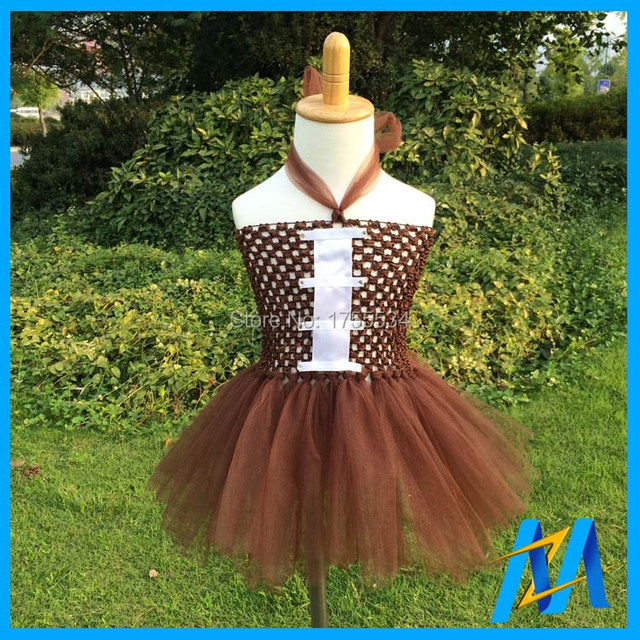 New Design Baby Girls Football Dress Infant Crochet Top With Tulle