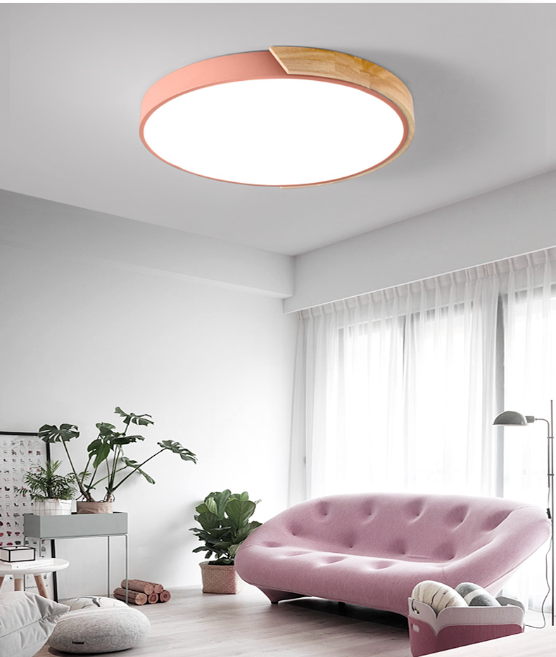 HTB19pTAqTCWBKNjSZFtq6yC3FXat Nordic Oak App Dimmable Led Ceiling Lights Living Room Round Multicolor Alloy Led Ceiling Lamp Bedroom Led Ceiling Light Fixture