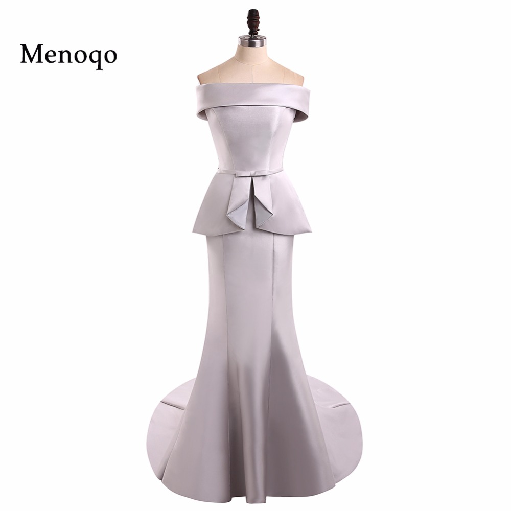 Menoqo Classical Women   Prom     Dress   Off Shoulder Long Mermaid   Prom   Evening   Dress   Cheap Pageant   Dress   Real Sample