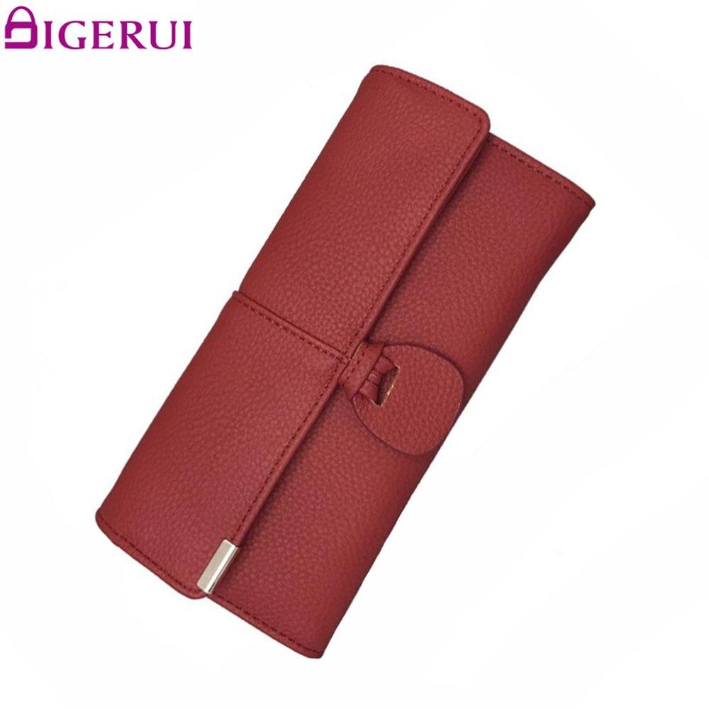 DIGERUI Purse Leather Wallets Women Luxury Brand Purse Woman Wallet Female Purse Card Holder Clutch Feminina Carteira A1729