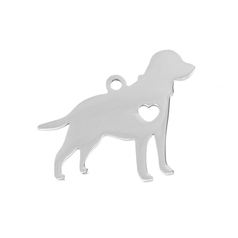 simsimi beagle dog Stainless steel Pendant pet accessories puppy pet ID blank dog tag for print Mirror polish 10pcs