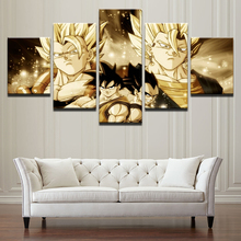 HD Print Framework Canvas Painting 5 Panel Dragon Ball Wall Art Poster Cartoon For Living Room Cuadros Modular Animation Picture