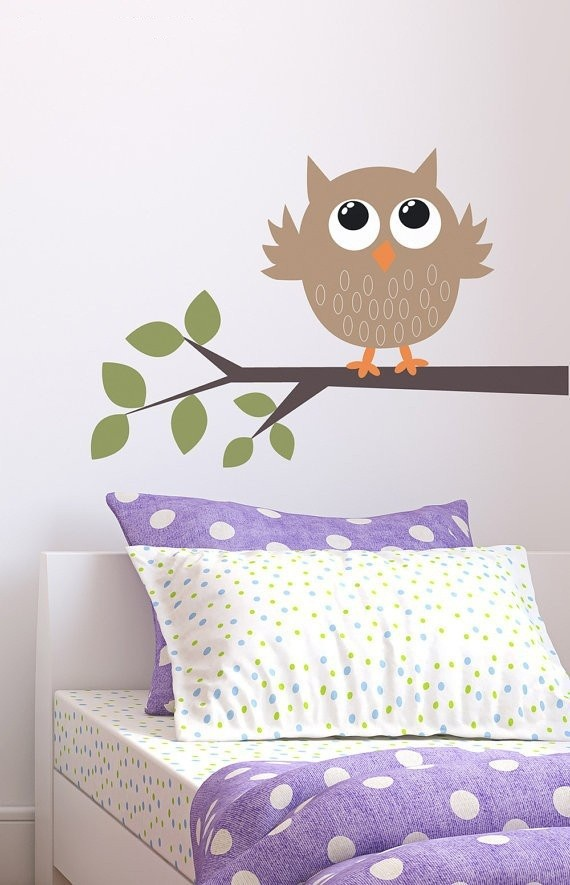 Owl On A Branch Kit Removable Wall Art Decor Vinyl Nature