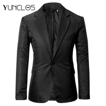 YUNCLOS EU Size 2019 Autumn New Men's Suit Blazer Single Buttons Solid Color Suit Jackets Casual Men Business Slim Fit Blazer
