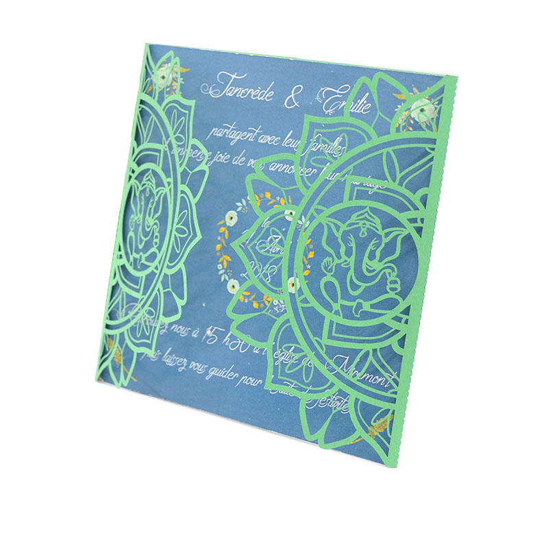 Us 24 0 Customized Laser Cut Wedding Invitation Card Printing Machine Ganesh Designs For Wedding Party In Cards Invitations From Home Garden On