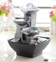 Resin fountain of flowing water Fengshui handicraft invites wealth Christmas for household gifts decoration ornament